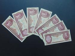 7 darab 100 forint 1993 LOT !!! Szép ropogós bankjegyek