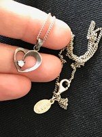 Csodálatos ezüst nyaklánc+medál  925