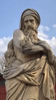 Óriási zeusz szobor tűzzel(márvány)