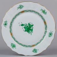 Herendi zöld Apponyi mintás lapostányér