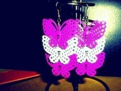 Retro Pillangó kézműves desinger fülbevaló