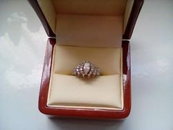 Cirkon köves antik ezüst gyűrű