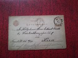 1882-es 2 kr Levelezőlap  BRASSÓ- LEOPOLDSTADT-WIEN