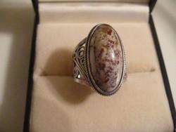 Nagy méretű antik orosz ezüst gyűrű