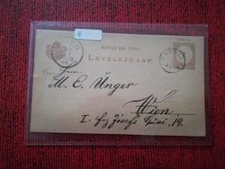 1882-es Levelezőlap 2 kr TAPOLCZA - WIEN