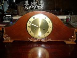 Meseszép antik nagy méretű, feles ütős Junghans kandalló óra tökéletes működéssel