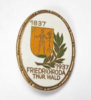 3.Birodalom, 100 éves Friedrichroda település 1837-1937 jelvény