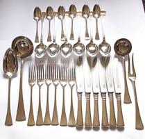 6 személyes ezüst evőeszköz készlet dobozzal.