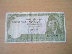 PAKISZTÁN 10 RÚPIA RUPEES ND 1984 aláirás: Ishrat Hussain  #