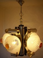 Murano Mazzega csillár 5 üvegburás
