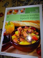 Francia  konyha lépésről lépésre-Makulátlan állapotú szakácskönyv