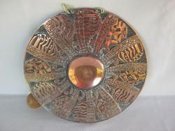 Jelzett iparművész réz gong