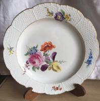 MEISSENi porcelán tányér-1860-1924.jellel-második darab