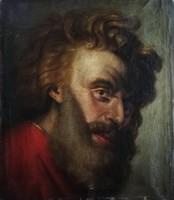 Antik, XVIII-XIX.századi Mózes portré Rembrandt után.56x48cm.Nem kivágott darab!!! Eredeti portré!