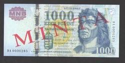 1000 forint 2011. MINTA.  UNC!!