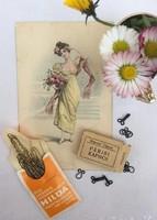 Hilda kontycsatok eredeti tasakban és  Párisi kapocs dobozában