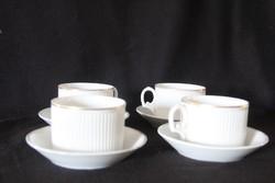 4 db porcelán csésze + alj
