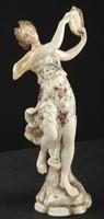 Porcelán, Volkstedt, 1877-1894 antik, hibátlan, Danae figura, jelzett, gyönyörű