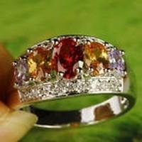 Csodálatos Rubin és Topáz, Ametiszt, köves gyűrű 9