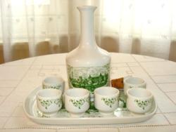 RETRO alföldi porcelán pálinkás, italos készlet