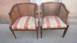 Nádfonatos kisebb méretű fotel pár