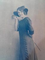 Lenkeffy Ica , a Vígszínház művésznője -cca.1910.  fénykép,fotográfia, levelező-lap
