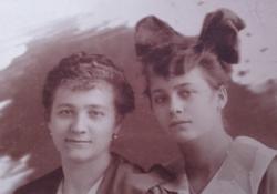1917. eredeti DISKAY  fotó, fénykép,fotográfia, levelező-lap. - Margit és Gabi emlék fotója