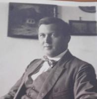 Kutas Kálmán evangélikus lelkész cca. 1915-28. Serényi Árpád fotó- fénykép,fotográfia, levelező-lap