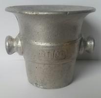 Mozsár alumínium MOFÉM mérete 6,5cm magas, 7cm széles tőrő nélkül