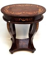 Empire intarziás asztal