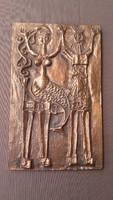 Kopcsányi Ottó bronz falikép