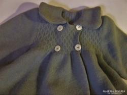 Régi baba ruha, kislány, gyermek kabát