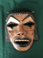 Japán Noh színházi maszk falikerámia