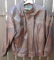 Férfi bőrkabát, kabát 2. (retro olasz bőrdzseki, XL-es)