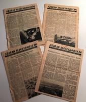 Az '56-os ellenállók hőlégballonokról terjesztett 'Szabad Magyarország' röplapjai
