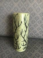Gorka Géza rajzos zöld váza