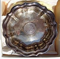 Osztrák érmés ezüst tál