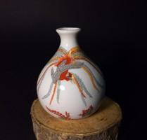 Japán madaras miniatűr porcelán váza