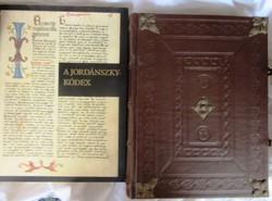 A Jordánszky-Kódex I-II.+magyarázó füzet, hasonmás kiadás,bőrkötés. Hellikon kiadó