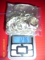 Ezüst Csomag (122 gramm )Jelzett Angol Ezüstözött Ékszertároló Nagyméretű Kagyló