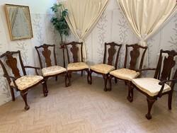 Amerikai antik székek új kárpittal 6db!