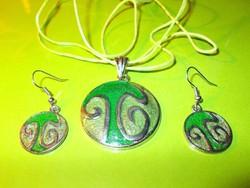 Art Deco modernista Zöld színek Játéka Iparművész Szett