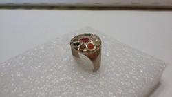 NAVARATNA drágaköves ezüst gyűrű