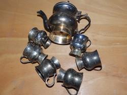 Ezüstözött alpakka kávés készlet