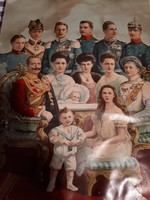 A Királyi család antik nyomat