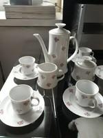 Alföldi porcelán, virágmintás kávéskészlet