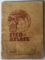 ZSEB=ATLASZ 1940es kiadás 32oldalas mérete:11cmX15cm a gerinc ragasztva van, tintaceruzás firkálások