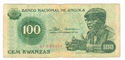 100 kwanzas 1976 Angola