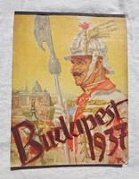 Budapest 1937 asztali naptár
