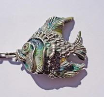 Színes ezüst hal, kulcstartó